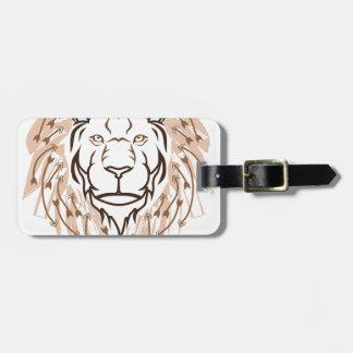 Pfeil-Löwe Gepäckanhänger