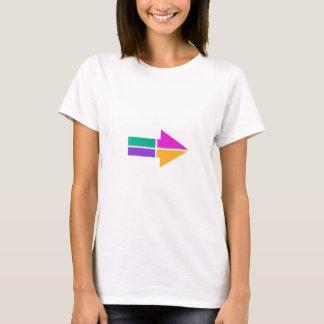 PFEIL magische bunte Kleiderordnung-Richtung T-Shirt