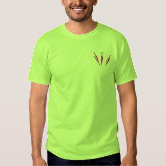 Pfeil-Taschen-Deckel Besticktes T-Shirt