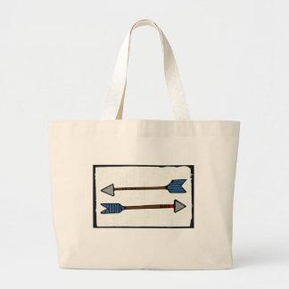 Pfeil-Taschen-Tasche Jumbo Stoffbeutel