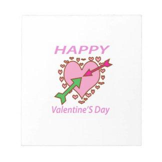 Pfeilspaß des Valentinstag-Geschenk-romantischer Notizblock