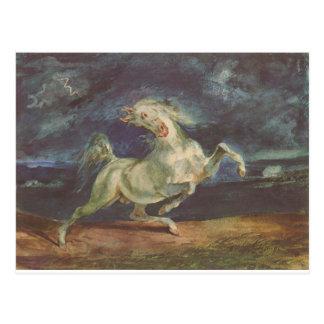 Pferd erschrocken durch einen Sturm durch Eugene Postkarte