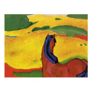 Pferd Franz Marc in einer Landschaft Postkarte