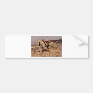 Pferd für die Steine sammelnd in den Hüllen Autoaufkleber