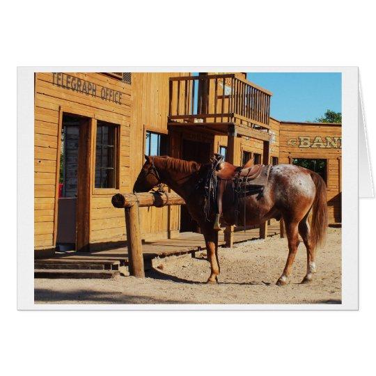 Pferd im wilden Westen, USA Grußkarte