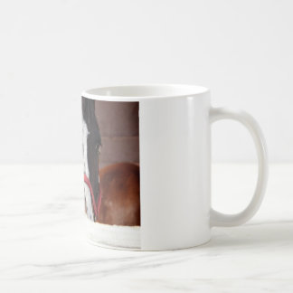 Pferd im Winter Kaffeetasse