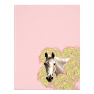 Pferd in den Blumen Flyers