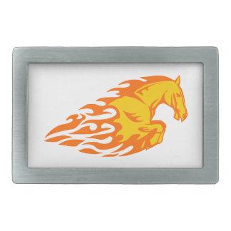 Pferd in den Flammen Rechteckige Gürtelschnallen