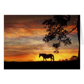 Pferd in der pferdeartigen Beileidskarte des Karte