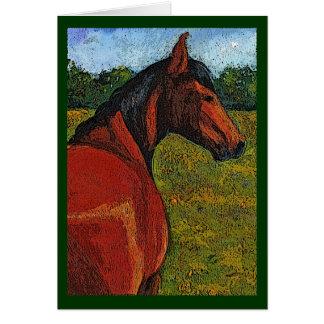 Pferd in der Weide: Ursprüngliche Illustration: Karte