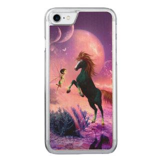 Pferd mit wunderbarer Fee Carved iPhone 8/7 Hülle