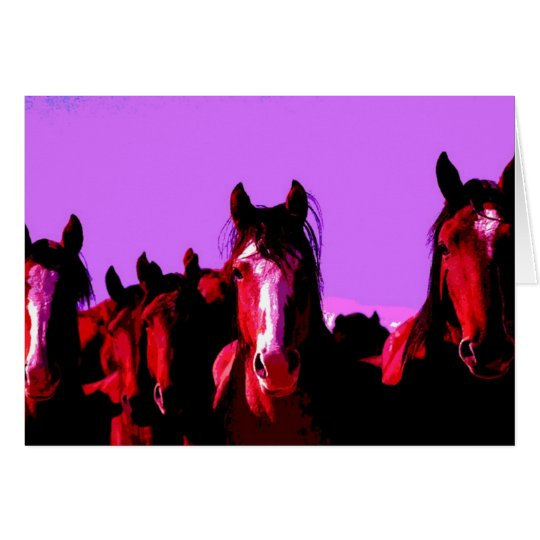 Pferd - Pferde Grußkarte