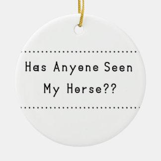 Pferd Rundes Keramik Ornament