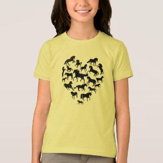 Pferd und Herz-T - Shirt