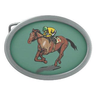 Pferd und Jockey Ovale Gürtelschnallen