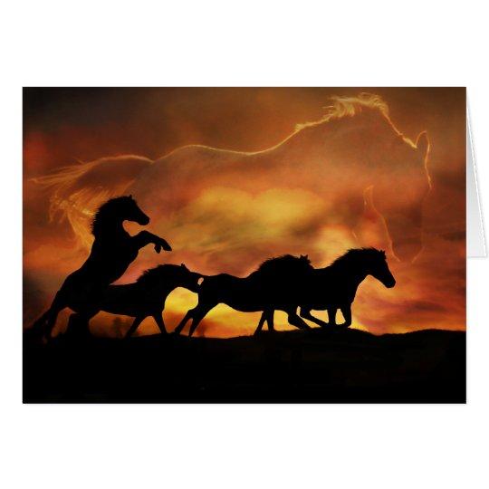 Pferd und pferdeartige Beileids-Karte Karte