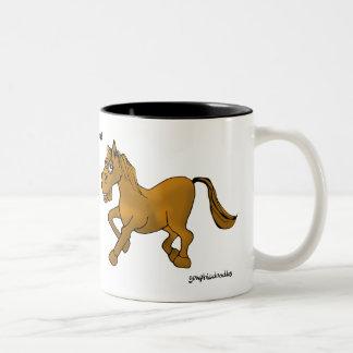 Pferd Zweifarbige Tasse