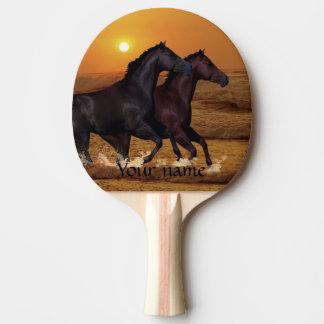 Pferde am Sonnenuntergang Tischtennis Schläger
