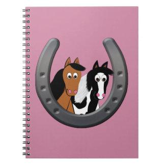 Pferde im Hufeisen Notizblock