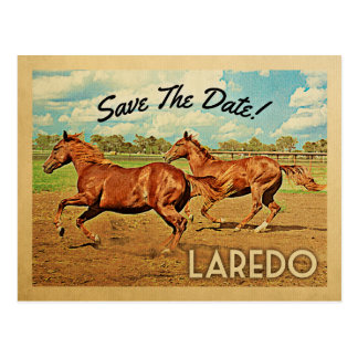 Pferde Laredos Texas Save the Date Postkarte