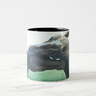 Pferde, Pferdekaffee-Tasse, PferdeTasse Zweifarbige Tasse