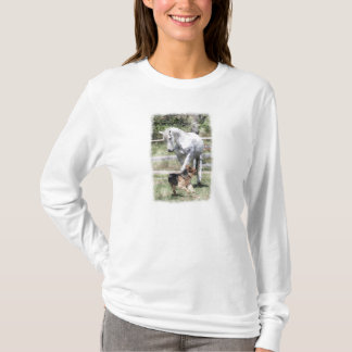 PFERDE-U. HUNDEspiel-AQUARELL T-Shirt