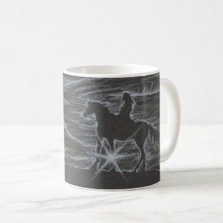 Pferde-und Mädchen-Sonnendurchbruch-Tasse Kaffeetasse