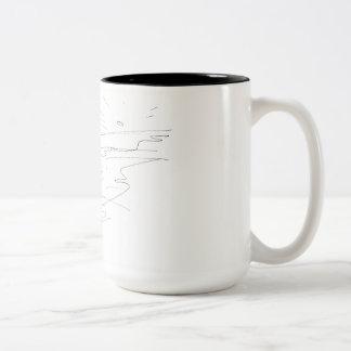 Pferde Zweifarbige Tasse