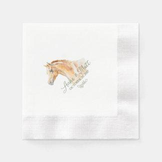 Pferdebauernhof-Hochzeitscocktailserviette Papierservietten