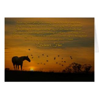 PferdeBeileid, Erinnerungsgedicht-Karte Grußkarte