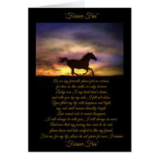 PferdeBeileids-Karte mit ursprünglichem Gedicht, Grußkarte