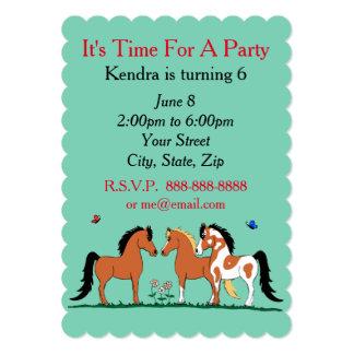 Pferdefreunde kundengerechte Party Einladungen