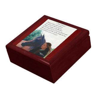 Pferdegedicht-Geschenkboxen Erinnerungskiste