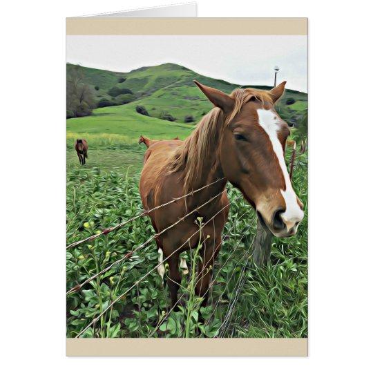 Pferdegruß-Karte, leer Karte