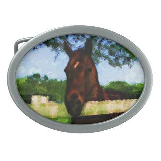 Pferdehübscher Gruß Ovale Gürtelschnallen