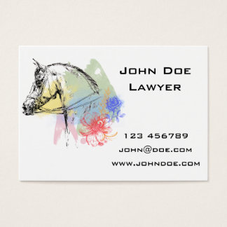 Pferdekopf-Aquarelle Jumbo-Visitenkarten