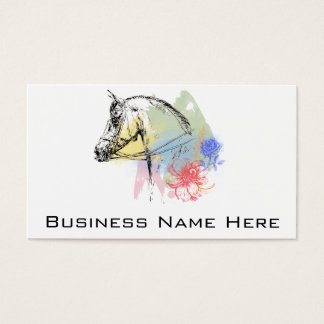 Pferdekopf-Aquarelle Visitenkarten