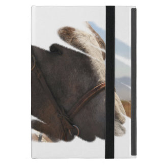 Pferdekopf-Gesichts-Porträt Rodeostallions-| iPad Mini Hülle