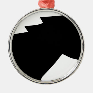 Pferdekopf im Wind Rundes Silberfarbenes Ornament