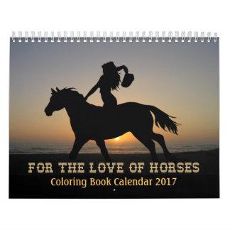 PferdeMalbuch-Kalender 2017 Abreißkalender