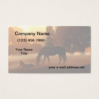 Pferdenebelhafter Sonnenaufgang Visitenkarte