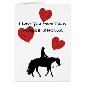 Pferdepersonen-lustiger Valentinsgruß Karte