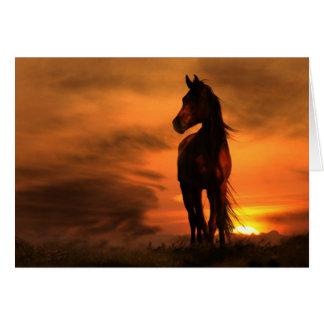 Pferdepferdeartige Beileids-Karte Grußkarte