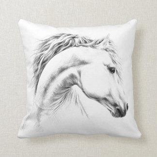 Pferdeporträtbleistift, der Throwkissen zeichnet Kissen