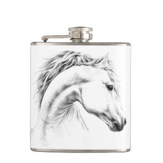 Pferdeporträtbleistift-Kunst Flasche Flachmann