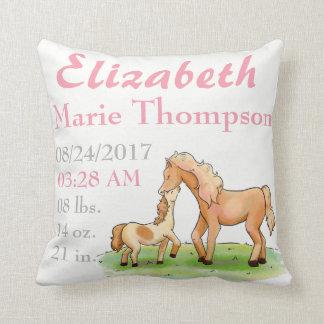 PferdereiterLiebe-Baby-Mitteilungs-Geburt Kissen
