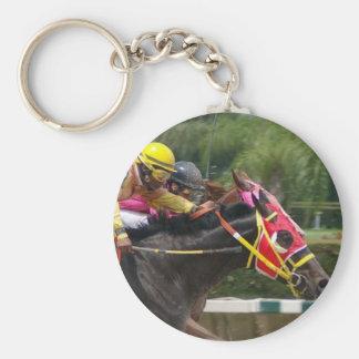 Pferderennen-Ende Keychain Schlüsselanhänger