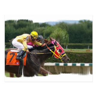 Pferderennen-Endpostkarte Postkarte