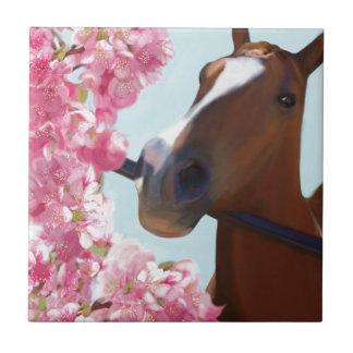 Pferderosa Blüten Fliese