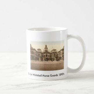 Pferdeschutz 1890's Londons Whitehall Kaffeetasse